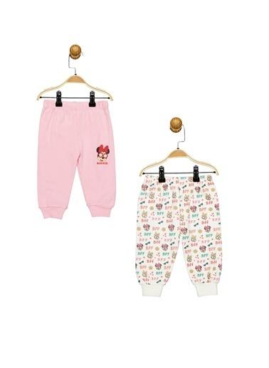 Minnie Mouse Lisanslı 2'Li Patiksiz Pantolon 17337 Pembe